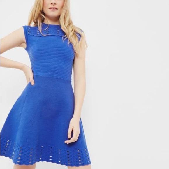 9cf0fe43456e Ted Baker Zaralie Jacquard Cut-Out Skater dress